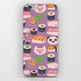 Kawaii sushi purple iPhone Skin