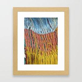 fishing net abstract Framed Art Print