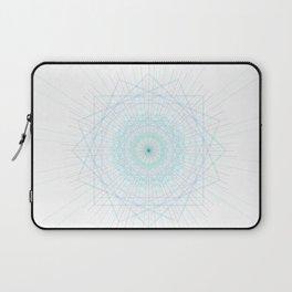 Spirograph Teal Light Geo Bursts Squares Abstract Minimal Art Laptop Sleeve