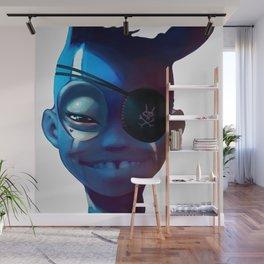 Black Rabbit Blue Wall Mural