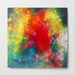 On the bright side - Colorful abstract watercolor Metal Print