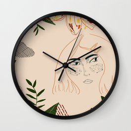 Jungle girl Wall Clock