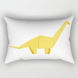 Origami Diplodocus Rectangular Pillow