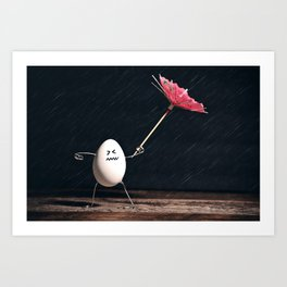 Not Egg-actly Nice Weather Art Print