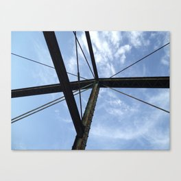 From the bridge, looking up Canvas Print