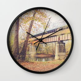Ohio's Longest Covered Bridge Wall Clock