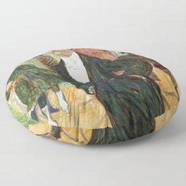 """Henri de Toulouse-Lautrec """"Monsieur Henri Fourcade au Bal de l'Opéra"""" Floor Pillow"""
