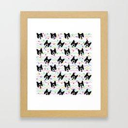 CMYK Cat Pattern Framed Art Print
