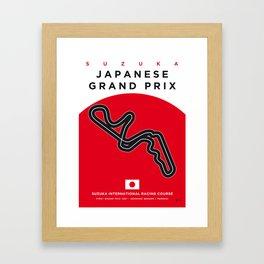 My F1 SUZUKA Race Track Minimal Poster Framed Art Print