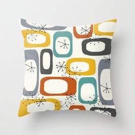 Mid Century Modern Shapes 02 #society6 #buyart Throw Pillow