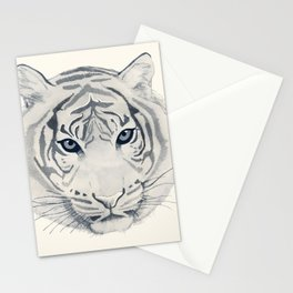 Roar - Tiger in Mono Stationery Cards