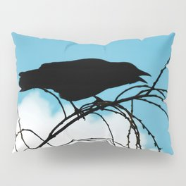 Cawing Crow Pillow Sham
