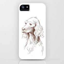 Sketch of Teddy iPhone Case