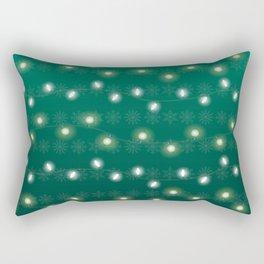 Christmas Light Green Rectangular Pillow