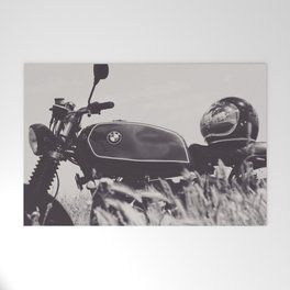 Scrambler photography, motorcycle lovers, motorbike, café racer, cafe racer, man cave gift Welcome Mat