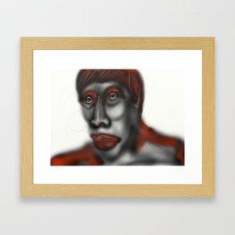 Red key Framed Art Print
