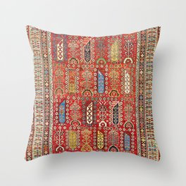 Shirvan Caucasian Antique Carpet Throw Pillow