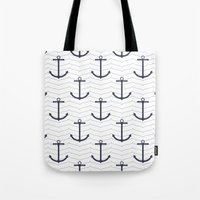 nautical Tote Bags featuring Nautical by Background Labs