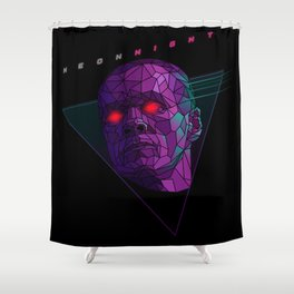 Neonnight 80s cyborg Shower Curtain