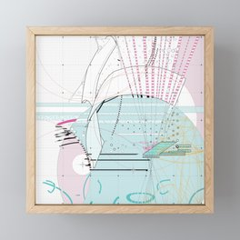 abstract movement 2.0 Framed Mini Art Print