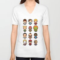 foo fighters V-neck T-shirts featuring The Fighters by Papyroo