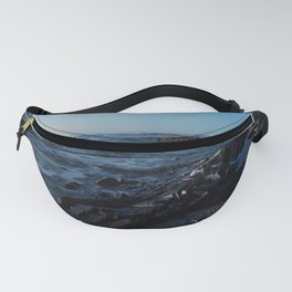 Sea Washes over the Rocks in Spring Fanny Pack