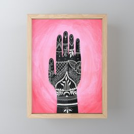 Mehndi Hand Painting Framed Mini Art Print