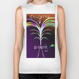 California Dreamin Abstract Palm Tree Biker Tank