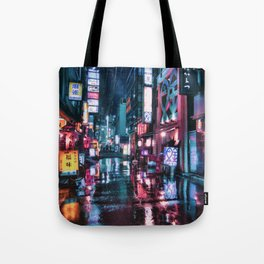 Shimbashi at Night Tote Bag