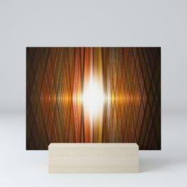 Starburst grid Mini Art Print