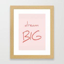 Dream big living coral Framed Art Print