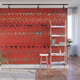 African American Masterpiece Alma Thomas, Red Sunset, Old Pond Concerto Wall Mural