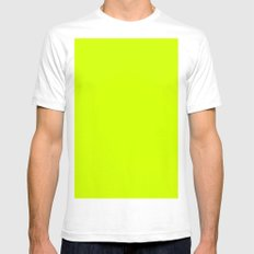 Yellooow Mens Fitted Tee LARGE White