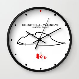 Circuit Gilles Villeneuve Wall Clock