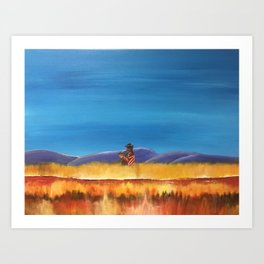 Gaucho at the Blood River Art Print