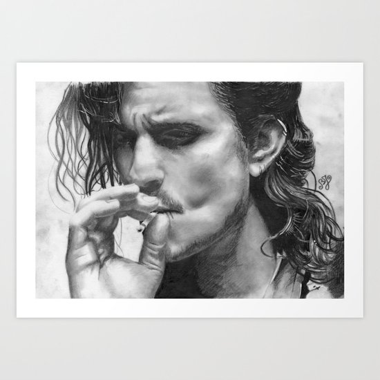 Orlando Bloom Art Print