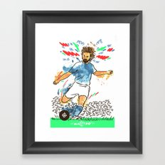 Andrea Pirlo The Maestro Framed Art Print