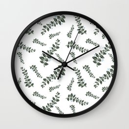 Blue Ferns Wall Clock