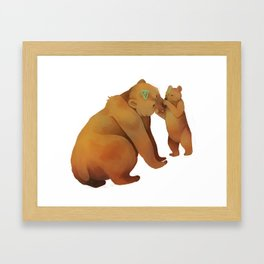 Kodiak Bears Framed Art Print