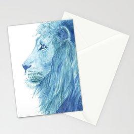 Blue Majestic Lion Stationery Cards