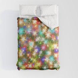 Star colorful christmas abstract Comforters