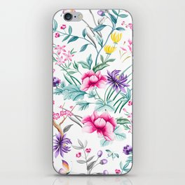 Chinoiserie Decorative Floral Motif iPhone Skin