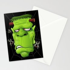 Frankenstein Ugly Portrait and Spiders Stationery Cards