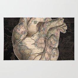 adventure heart-world map Rug