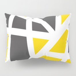 Abstract Interstate  Roadways Gray & Yellow Color Pillow Sham