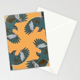 Circle of Mocking, Mockingbirds on Orange Stationery Cards