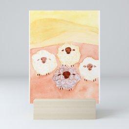 Heaps of Sheeps Mini Art Print