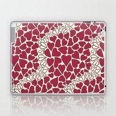 HEARTS  ~  CRIMSON & CLEAR Laptop & iPad Skin