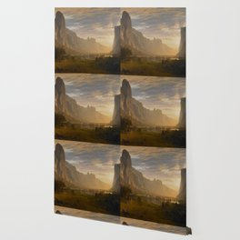 Looking Down Yosemite Valley, California Albert Bierstadt Wallpaper