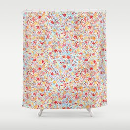 Indian summer leaves - handpainted watercolor pattern Shower Curtain
